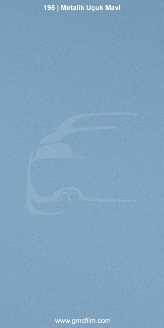 metalik uçuk mavi