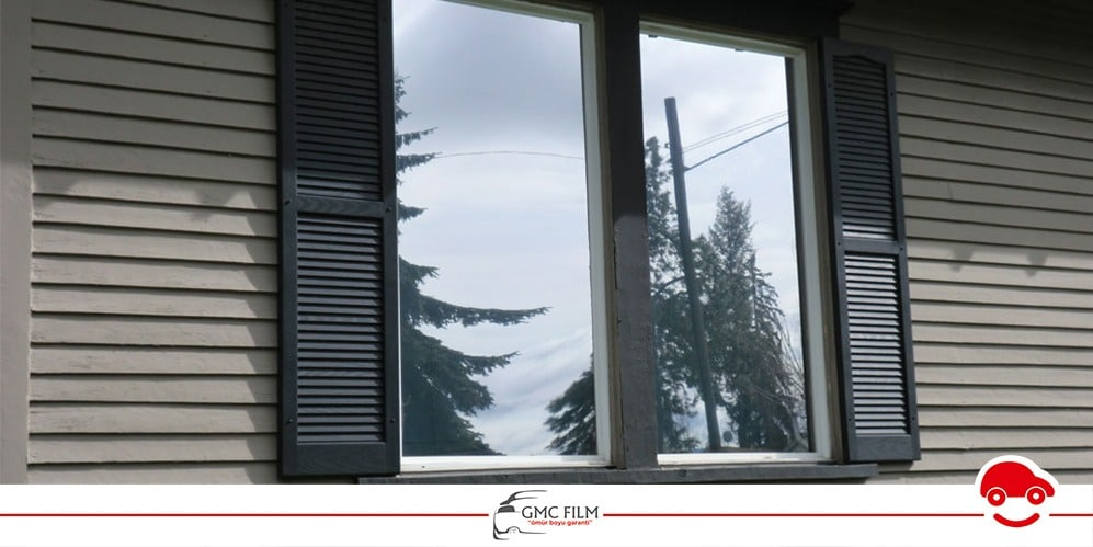 reflektif yansıtmalı aynalı cam filmi